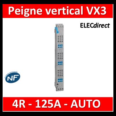 Legrand - Peigne vertical VX³ auto - 125 A - pour coffrets 4 rangées - 405034