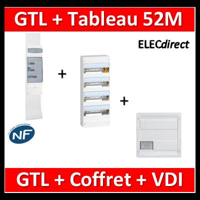 Legrand - Kit GTL 13M complet + tableau 52M + VDI 8RJ45 - 030037+401214+413219