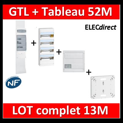 Legrand - GTL 13 + tableau 52M + VDI 4RJ45 + platine - 030037+401214+413218+401191