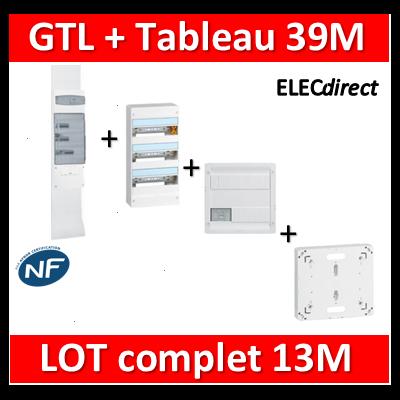 Legrand - GTL 13 + tableau 39M + VDI 4RJ45 + platine - 030037+401213+413218+401191