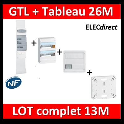 Legrand - GTL 13 + tableau 26M + VDI 4RJ45 + platine - 030037+401212+413218+401191