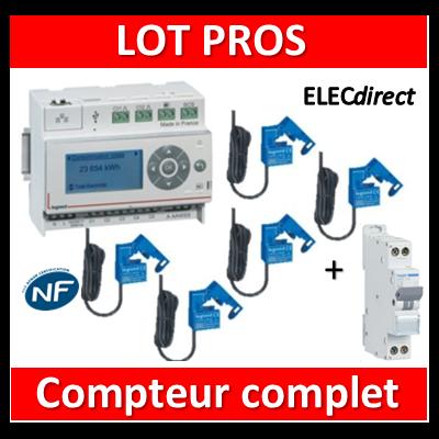 Legrand - ECOcompteur RT2012 - 5 entrées 230V MONO + Protection 2A - 412000 + 412002x5 + MFN702
