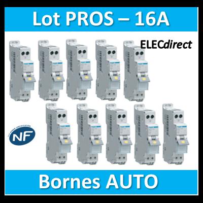 DISJONCTEUR HAGER  - LOT PROS - 1P+N - 16A - AUTO - MFS716x10