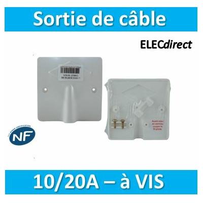 SIB - Sortie de câble 16/20A - à vis dim. 80x80 - P11016