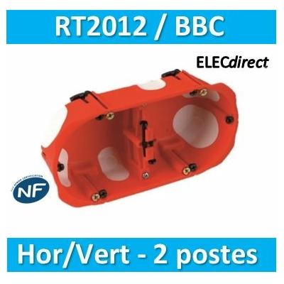 SIB - Boîte double BBC entraxe 71 mm - Prof. 50mm - 32972