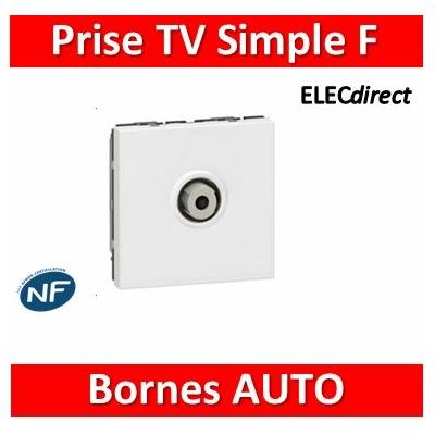 """Legrand Mosaic - Prise TV simple type """"F"""" à visser 2M - 078780"""