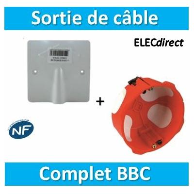 SIB - Sortie de câble 20/32A - à vis dim. 100x100 + Boîte BBC - P11032+38640