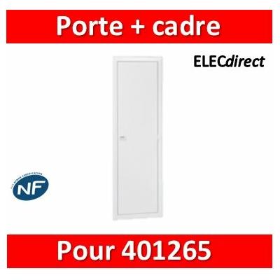 Legrand - Porte réversible avec cadre pour référence 401445 - 401455