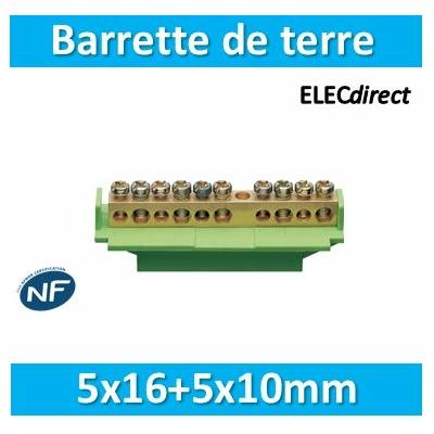 Hager - Barrette terre 5x16+5x10mm - KM10B