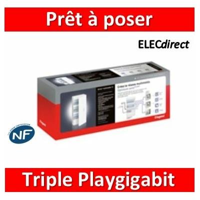 Legrand - Prêt à poser Triple PlayGigabit Drivia 18 modules - 418262