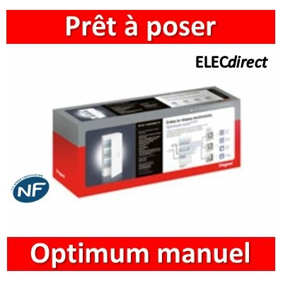 Legrand - Prêt à poser Optimum manuel Drivia 18 modules - 418263