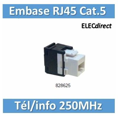 Tonna - Embase RJ45 plastique Tél/Info - Cat5 - 250 MHz - 828625