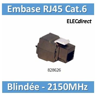 Tonna- Embase RJ45 blindée Tél/Info/TNT/Sat - Cat6 - 2150 MHz - 828626