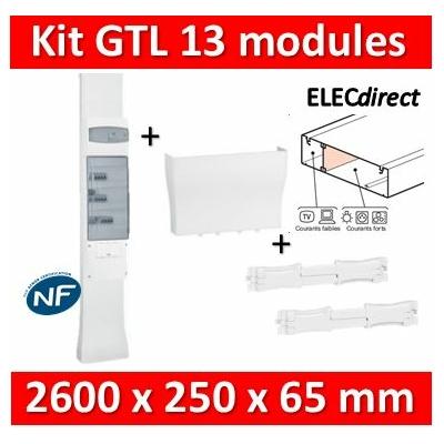 Legrand - Kit GTL 13M - 65 x 250 mm - Avec couvercle complet - long. réglable - 2,45 à 2,60m - 030037