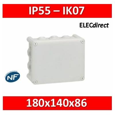 Legrand - Boite Plexo 180x140x86 étanche gris IP55/IK07- 750°C - 092052