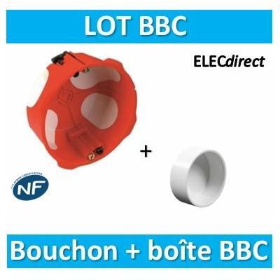 SIB - Boîte simple BBC Profondeur 40 mm + Bouchon BBC D.20 - 36840+bouchon BBC