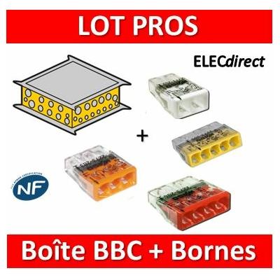 Legrand Batibox - Boîte pavillonnaire BBC 200x200x80 - 089311+2273-202x10+203x10+204x10+205x10