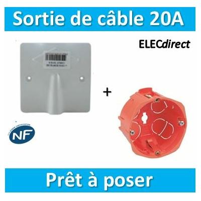 SIB - Sortie de câble 16/20A - à vis dim. 80x80 + boîte SIB - P11016+16840