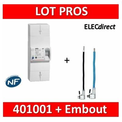 Legrand - Disjoncteur de branchement EDF 30/60A instantané + Embout EDF 60A 16mm2 - 401001+embout