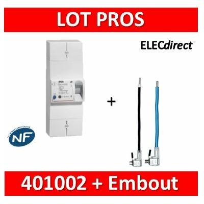 Legrand - Disjoncteur de branchement EDF 60/90A instantané + embout EDF 90A 25mm2 - 401002+embout