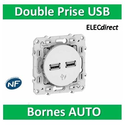 Schneider Odace - Prise Double USB -  S520407