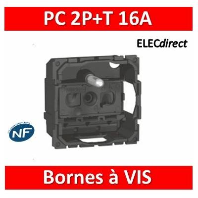 Legrand - Prise de courant  Céliane - 16 A - 250V - 2P+T - 067113
