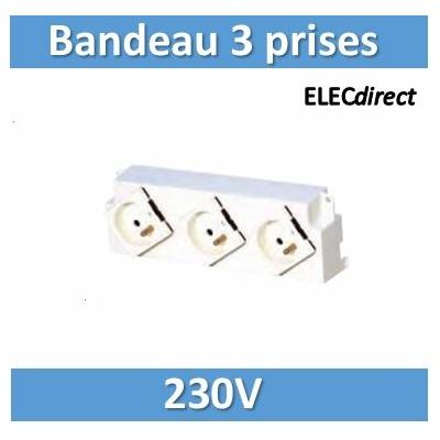 Tonna - Bandeau 3 prises 230 V~ - 828050