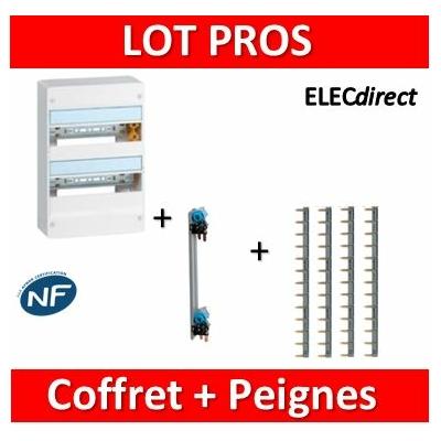 Legrand - LOT PROS - Coffret DRIVIA 26 M + peigne V/H - 401212+405000+404926x4