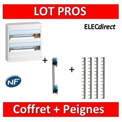 Legrand - LOT PROS - Coffret DRIVIA 36 M + peigne H/V - 401222+404928x4+405000