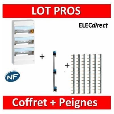 Legrand - LOT PROS - Coffret DRIVIA 39 M + peigne V/H - 401213+405001+404926x6