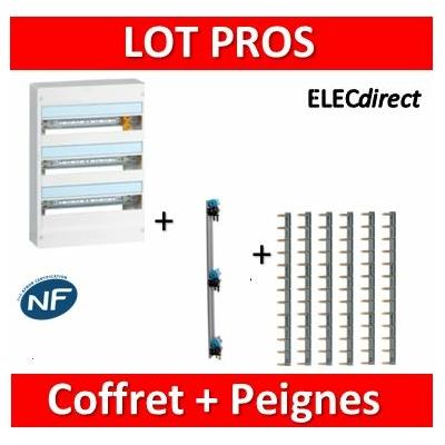 Legrand - LOT PROS - Coffret DRIVIA 54 M + peigne V/H - 401223+405001+404928x6