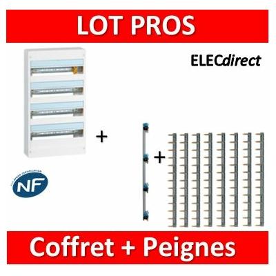 Legrand - LOT PROS - Coffret DRIVIA  72 M + peigne V/H - 401224+404928x8+405002
