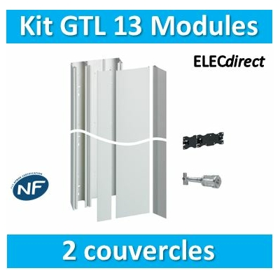 Hager - Kit GTL 13 Modules - 2 couvercles - 2x1,3m - JK213D