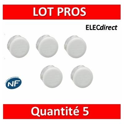 Legrand - LOT PROS - Boîte de dérivation étanche IP55 - D.60 - 092001x5