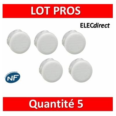 Legrand - LOT PROS - Boîte de dérivation étanche IP55 - D.70 - 092002x5
