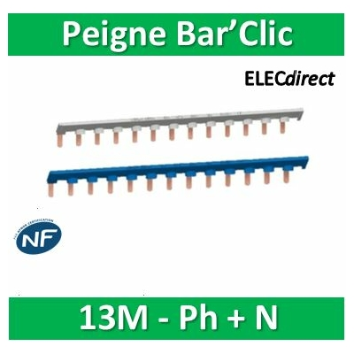 Schneider - Bar'Clic Peigne Phase + Neutre 13M - sch14878+sch14879
