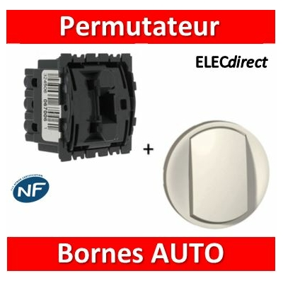 Legrand Céliane - Mécanisme + enjoliveur - Permutateur 10A - 067005+068001