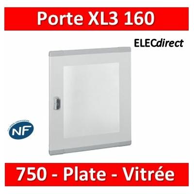 Legrand - Porte plate vitrée XL³ 160/400 -  H 750 mm - 020284