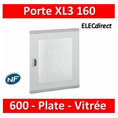 Legrand - Porte plate vitrée XL³ 160/400 -  H 600 mm - 020283