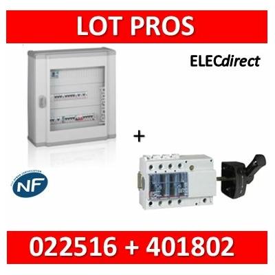 Legrand - Coffret 48 modules + Vistop 3P 63A avec poignée - 2R de 24M - XL3 160 - 401802+022516