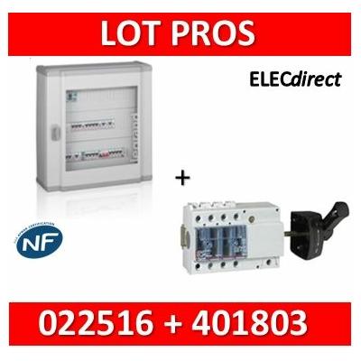 Legrand - Coffret 72 modules + Vistop 3P 63A avec poignée - 3R de 24M - XL3 160 - 401803+022516