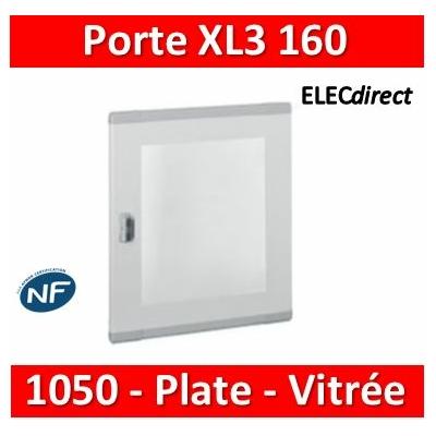 Legrand - Porte plate vitrée XL³ 160/400 - pour coffret et armoire H 1050 mm - 020286