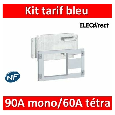 Legrand - Kit tarif bleu XL³ 160/400 - pour disj abonné 90 A mono et 60 A tétra - 020230