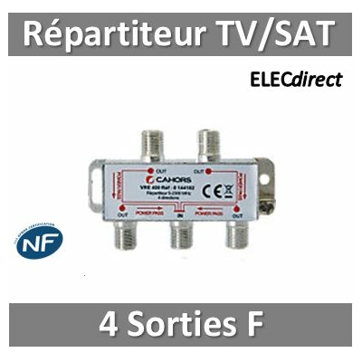 "CAE - Répartiteur TV/Satellite - 4 sorties ""F"""