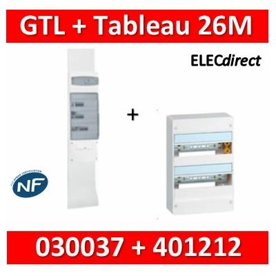 Legrand - Kit GTL 13M complet + tableau 26M - 030037+401212