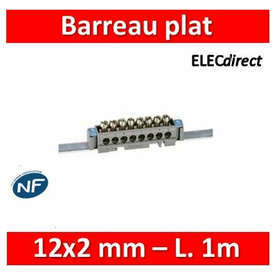 Legrand - Barreau plat 12x2 mm - L. 1 m - 004819