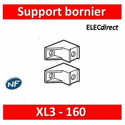 Legrand - Support bornier IP 2X (2) - pour coffrets XL³ 160 - 020050