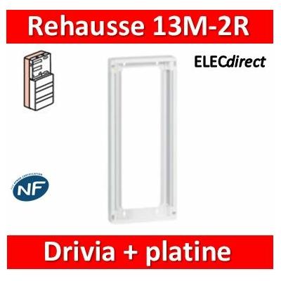 Legrand - Rehausse pour coffret Drivia 13 modules 2 rangées + platine de branchement - 401382
