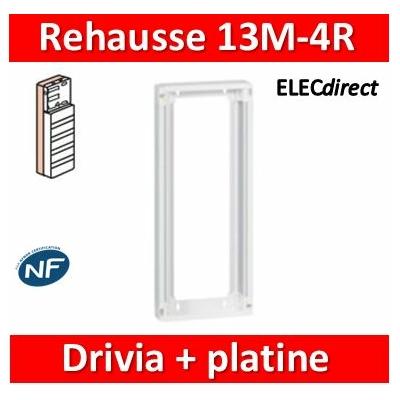 Legrand - Rehausse pour coffret Drivia 13 modules 4 rangées + platine de branchement - 401384