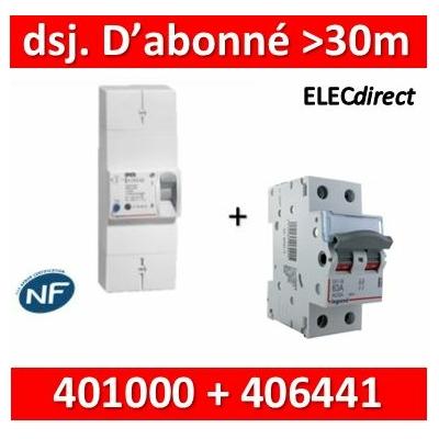 Legrand - Lot pour Disj. d'abonné >30m du tableau électrique - 63A - 406441+401000